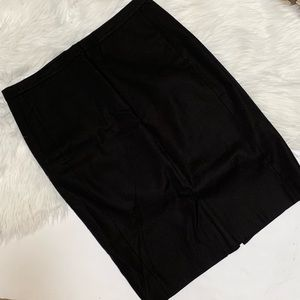 J. Crew Black Pencil Skirt size 8